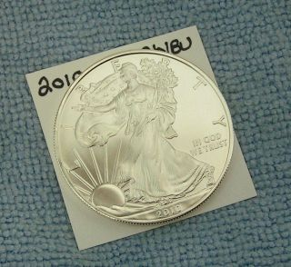 2010 American Silver Eagle. . . . . . . . . . . . .  Choice/bu photo
