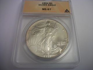 1994 Silver Eagle,  Ms 67 photo