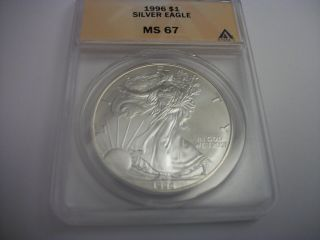 1996 Silver Eagle,  Ms 67 photo