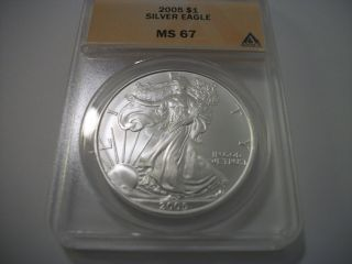 2005 Silver Eagle,  Ms 67 photo