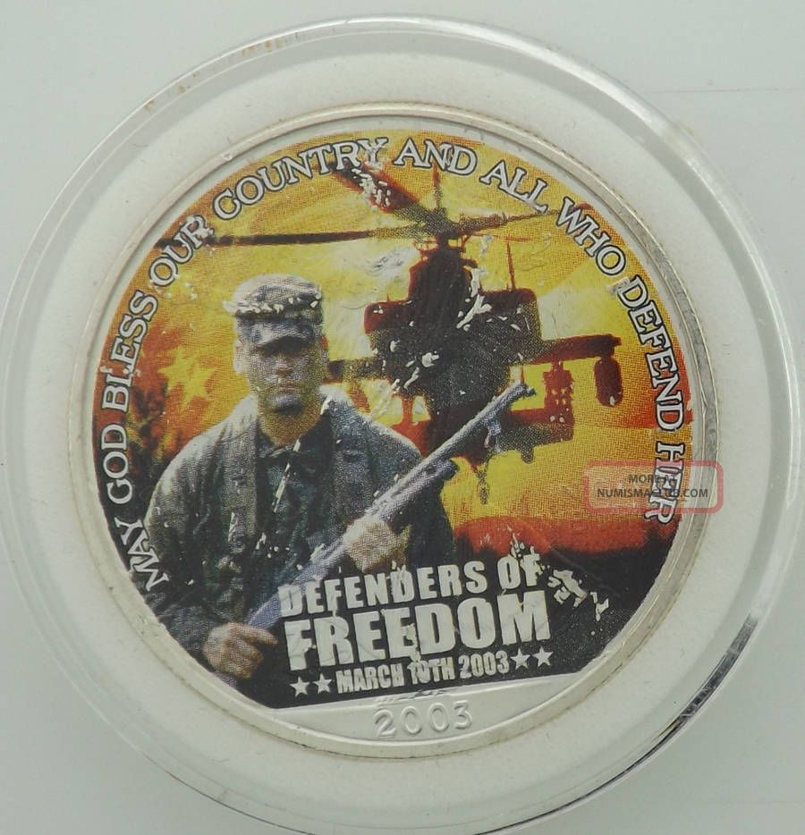 2003 Defenders Of Freedom Silver Eagle Great Military Coin