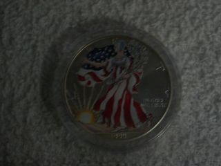1999 American Eagle Silver Dollar 1oz Fine Silver - Lady Liberty Full Color photo