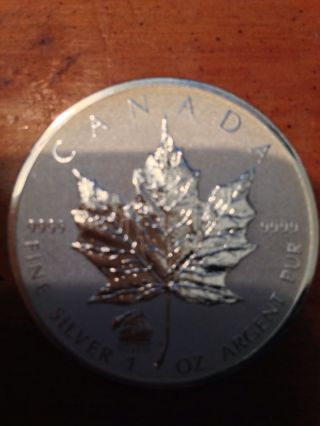 2012 1 Oz Silver Canadian Maple Leaf Titanic Privy photo