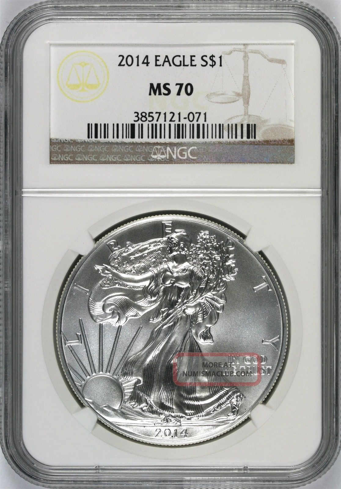 2014 Silver Eagle $1 Ngc Ms70 Silver photo