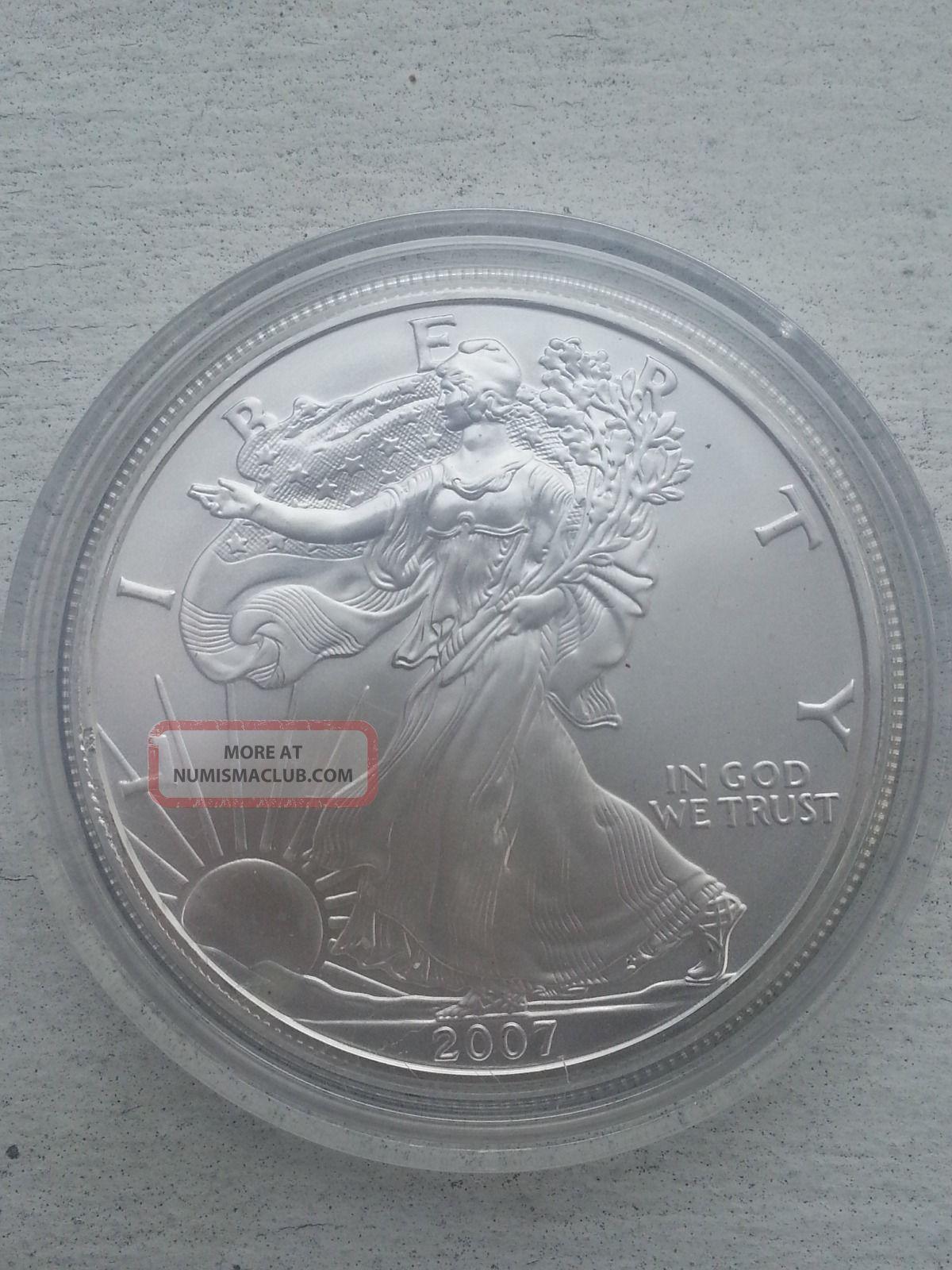 2007 99.  93% Silver Eagle Dollar Silver photo