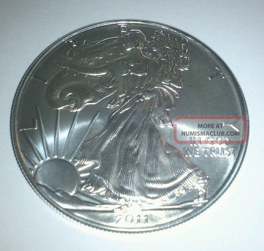 2011 Silver American Eagle 1 Oz.  Bullion Coin.  999 Fine Silver photo