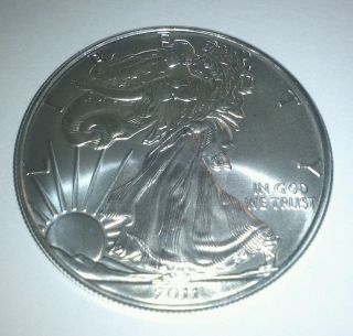 2011 Silver American Eagle 1 Oz.  Bullion Coin.  999 Fine photo