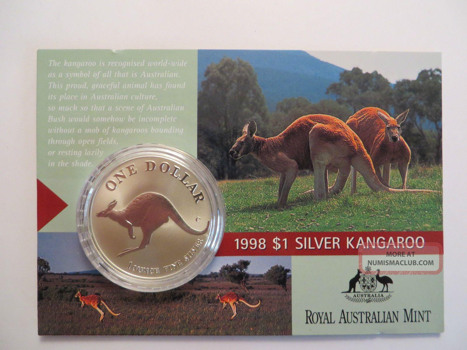 1994 1 Oz Silver Kangaroo,  Royal Australian,  Uncirculated Silver photo