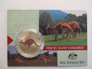 1994 1 Oz Silver Kangaroo,  Royal Australian,  Uncirculated photo