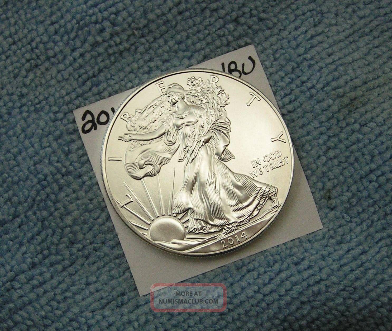 2014 American Silver Eagle. . . . . . . . . . . . . . .  Gem/bu Silver photo