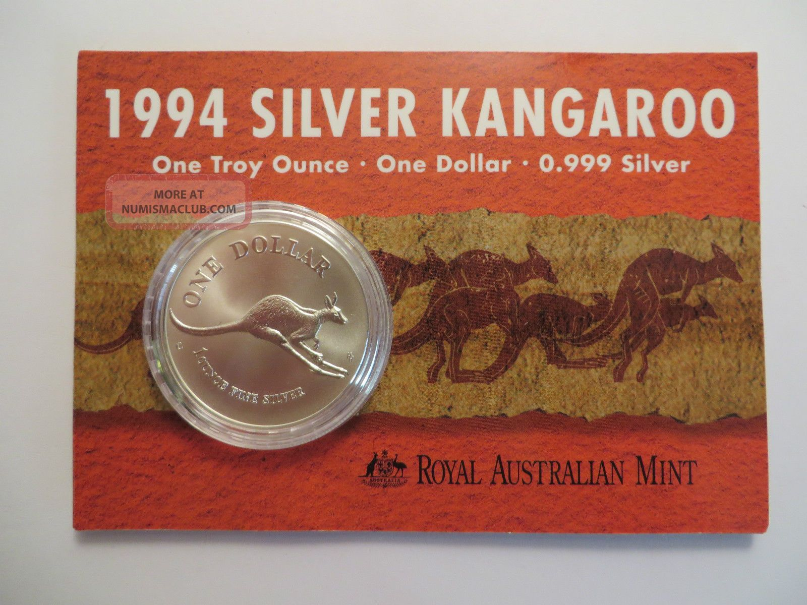 1998 1 Oz Silver Kangaroo,  Royal Australian,  Uncirculated Silver photo