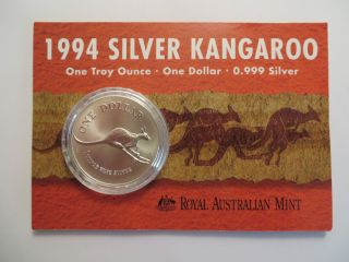1998 1 Oz Silver Kangaroo,  Royal Australian,  Uncirculated photo