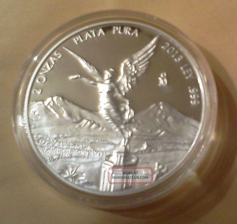 2013 Silver Libertad 2 Oz Proof (1,  300 Minted) : Check Pics Silver photo