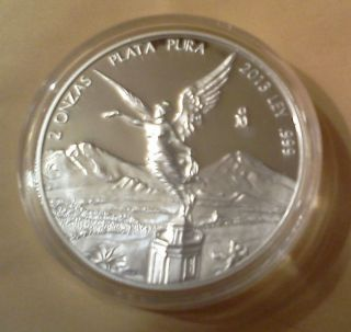 2013 Silver Libertad 2 Oz Proof (1,  300 Minted) : Check Pics photo