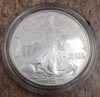 2007 W $1 American Silver Eagle