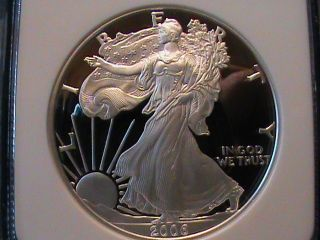 2006 - W American Eagle $1 Silver Ngc Pf 70 Ultra Cameo photo