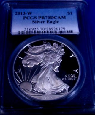 2013 W Pr 70 Pcgs Deep Cameo American Silver Eagle Proof - West Point Perfection photo
