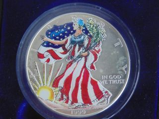 1999 1 Oz Silver American Eagle - Colorized Brilliant Uncirculated photo