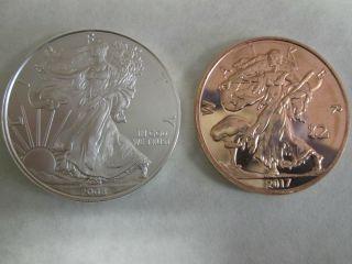 1 X 2008.  999 Fine Silver Oz American Eagle Bullion Coin Round photo