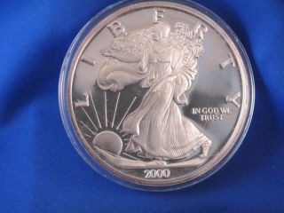 2000 Giant Commemorative American Eagle.  999 Silver 12 Troy Ounce B2976 photo