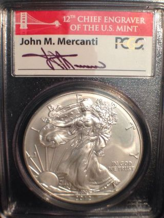 2012 - S American Siver Eagle - Pcgs Ms 70 Struck At Sf - First Strike photo