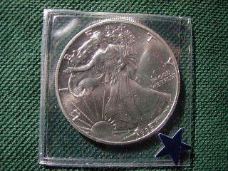1989 1 Oz Silver American Eagle (brilliant Uncirculated) photo