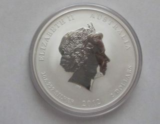 2012 2oz Australian Year Of The Dragon Silver Coin Perth photo