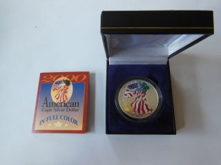 United States American Eagle Silver Dollar In Color,  2000 Bullion photo