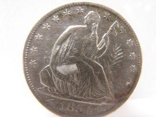 1854 American Silver Half Dollar,  Seated Liberty photo