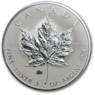2009 1 Oz Silver Canadian Maple Leaf (ox Privy).  9999 photo