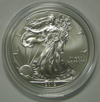2012 American Eagle One Ounce Silver Uncirculated Coin W/coa photo