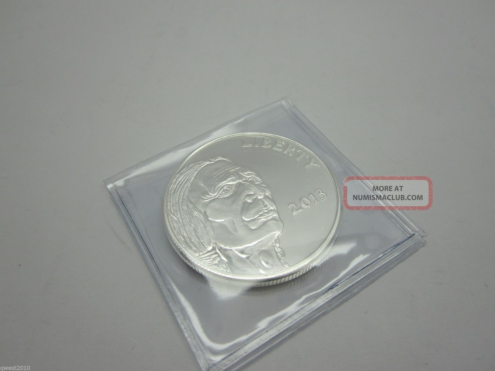 2013 American Indian - Buffalo 1 Troy Oz.  999 Fine Silver Round Prooflike Silver photo