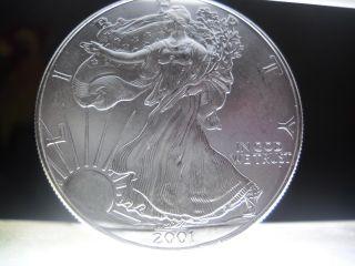 2001 American Silver Eagle Uncirculated photo