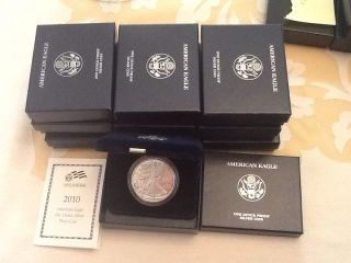 10 - 2010w American Silver Eagles Proof photo