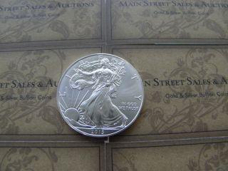 (1) - 2013 American Eagle Silver 1 Oz Bullion Coin Fresh Out Of Tube Bu photo