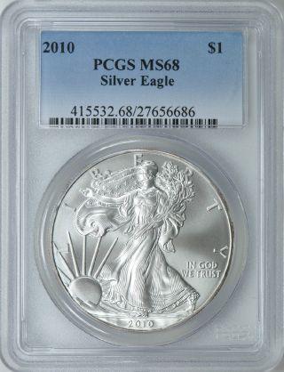 2010 American Silver Eagle Pcgs Ms68 photo