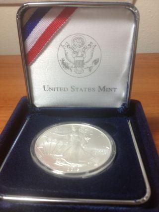 2013 American Silver Eagle,  Gem,  Brilliant Uncirculated,  With Cao Box photo