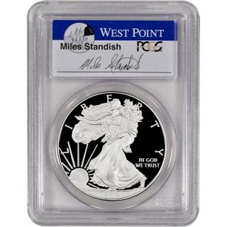 2014 - W American Silver Eagle Proof - Pcgs Pr70 Dcam - First Strike - Standish photo