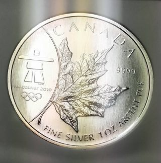 2008 Canada Maple Leaf Vancouver 2010 Olympics Ngc Ms68 Mby015 photo
