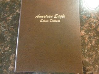 Collector Album With American Silver Eagles Dollars From 1986 - 2014 (29 Coin photo