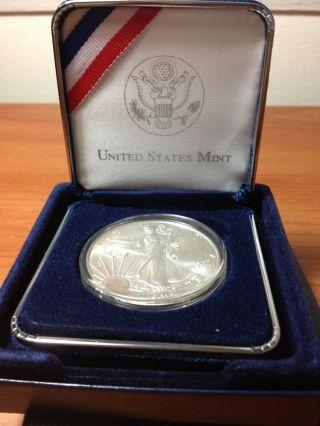 2012 American Silver Eagle 1 Troy Oz.  999 $1 Bullion Bu Gem Uncirculted photo