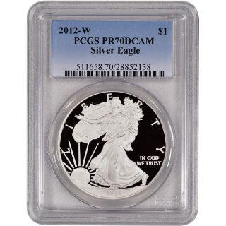 2012 - W American Silver Eagle Proof - Pcgs Pr70 Dcam photo