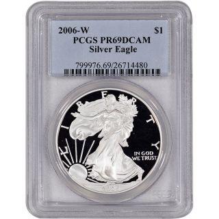 2006 - W American Silver Eagle Proof - Pcgs Pr69 Dcam photo