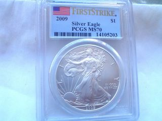 L@@k 2009 Pcgs Ms70 First Strike Wow Hard To Get.  A Must Have photo