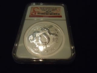 2013p Australia S$1 - Year Of The Snake - Early Releases Ngc Ms 70 photo