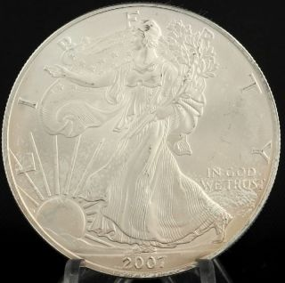 2007 American Silver Eagle - 1ozt.  999 Fine Dollar Ase Investment Coin Usa photo
