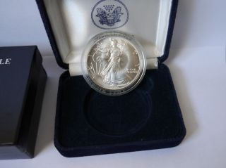 1986 American Silver Eagle Silver Dollar Uncirculated Boxed photo