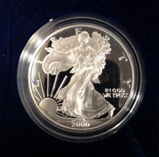 2000 P Proof Silver American Eagle photo