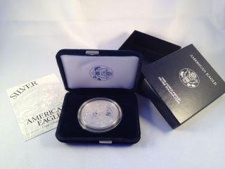 2001 - W 1 Oz Proof Silver American Eagle One Dollar Coin (w/box &) photo