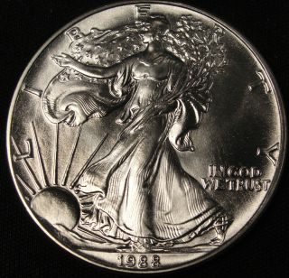 1988 American Silver Eagle Bullion Coin Key Date Uncirculated Nr photo